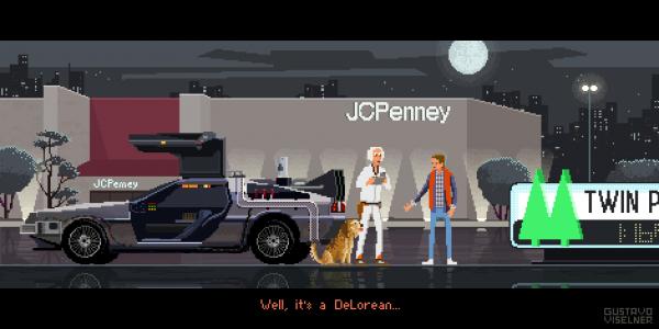 Gustavo Viselner et sa création avec Michael J. Fox, Christopher Lloyd ainsi que la Delorean en pixel art