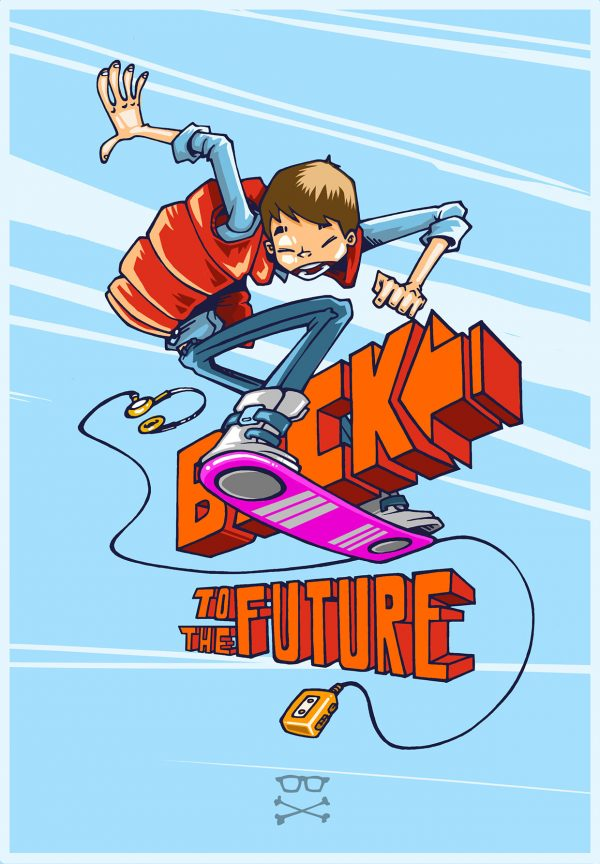 Marty McFly en cartoon par Rolo Ocampos