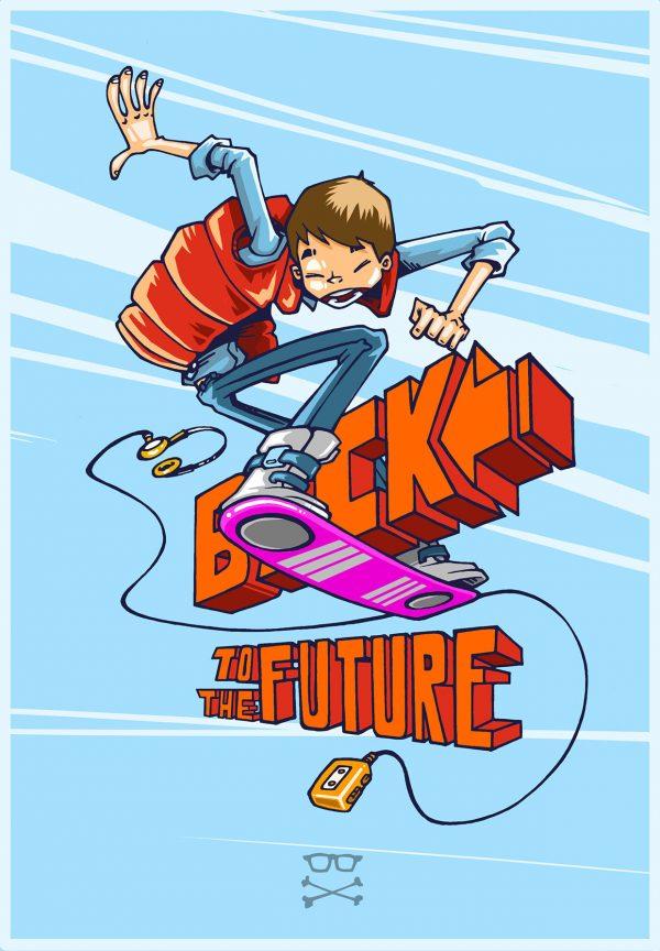 Marty McFly en cartoon par Rolo Ocampos