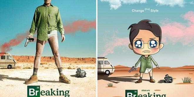 Affiches Series Tv Illustrations Marrantes Toshib Bagde (1)