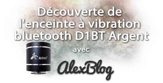 Decouverte Enceinte Vibration Bluetooth D1bt Argent
