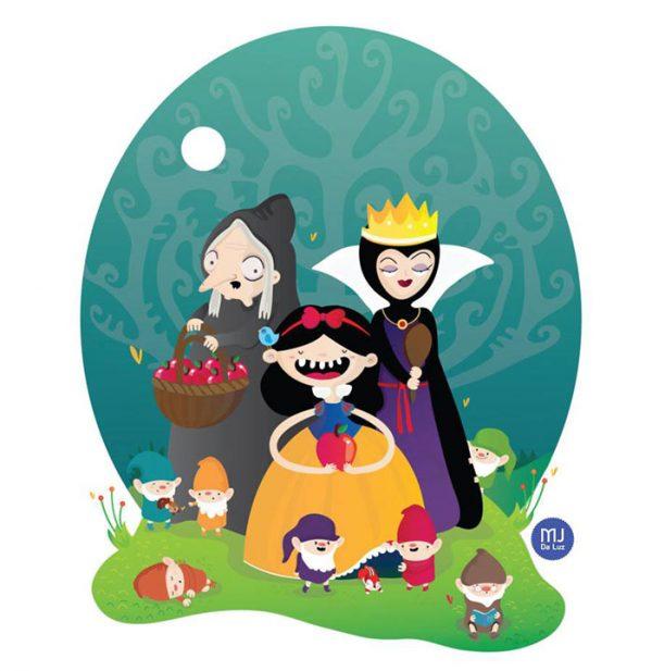 Illustrations Mignonnes Personnages Television Cinema Mj Da Luz (13)
