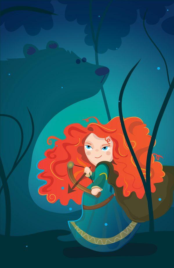 Illustrations Mignonnes Personnages Television Cinema Mj Da Luz (22)