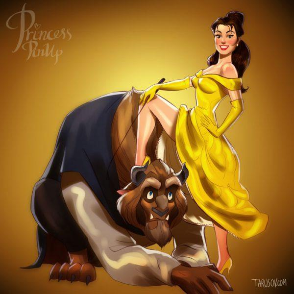 Princesses Disney Pin Up Andrew Tarusov (4)