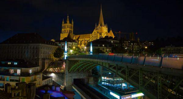 Hyperlapse Ville Lausanne