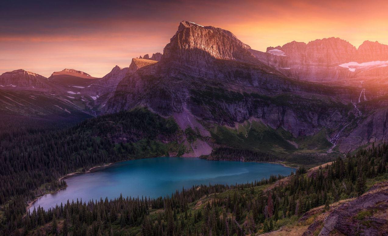 Photographie Golden Glacier