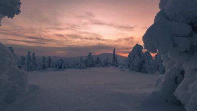 Winter Wonderland Time Lapse Finlande 4k