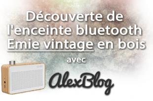 Decouverte Enceinte Bluetooth Emie Vintage Bois