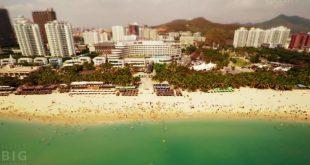 Time lapse miniature et original sur l'île d'Hainan