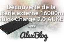 Decouverte Batterie Externe 16000mah Quick Charge Aukey