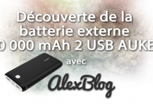 Decouverte Batterie Externe 20000 Mah 2 Usb Aukey