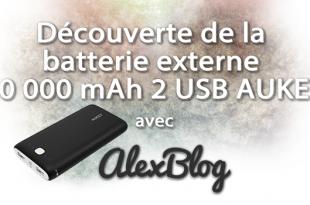Decouverte Batterie Externe 20000 Mah 2 Usb Aukey