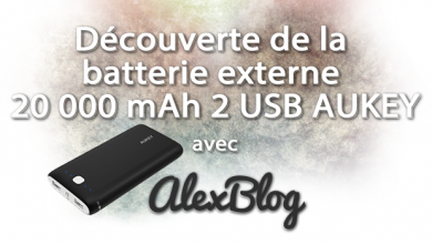 Photo of Découverte de la batterie externe 20 000 mAh 2 USB AUKEY