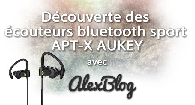 Decouverte Oreillette Bluetooth Sport Apt X Aukey