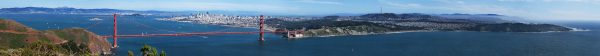 Photographies Pont Golden Gate Panorama