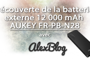 Decouverte Batterie Externe 12 000 Mah Aukey Fr Pb N28