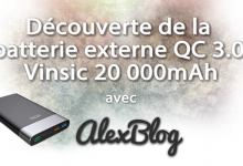 Decouverte Batterie Externe Qc 3 0 Vinsic 20 000mah