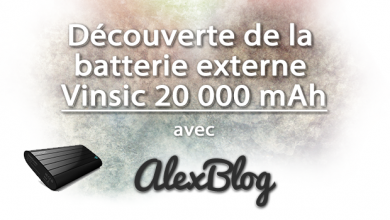 Decouverte Batterie Externe Vinsic 20 000 Mah