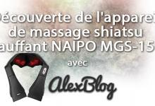 Photo of Découverte de l'appareil de massage shiatsu chauffant NAIPO MGS-150D