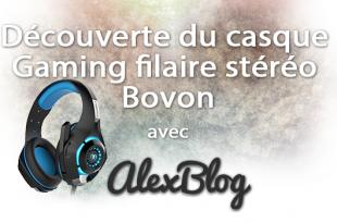 Decouverte Casque Gaming Filaire Stereo Bovon