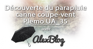Decouverte Parapluie Canne Plemo Ua 35 Coupe Vent