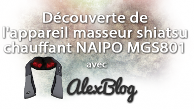Photo of Découverte de l'appareil masseur shiatsu chauffant NAIPO MGS801