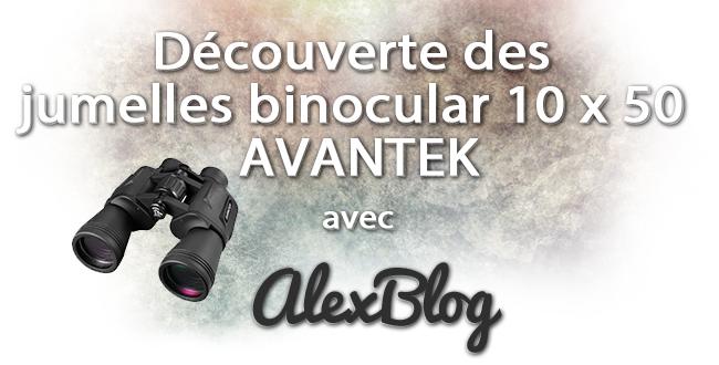 Decouverte Jumelles Binocular 10 X 50 Avantek