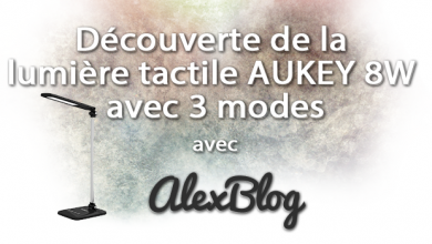 Decouverte Lumiere Tactile Aukey 8w