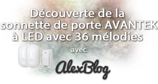Decouverte Sonnette Porte Avantek Led 36 Melodies