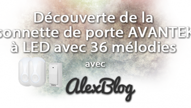 Photo of Découverte de la sonnette de porte DB-LE AVANTEK originale à LED avec 36 mélodies
