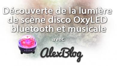 Photo of Découverte de la lumière de scène disco OxyLED bluetooth et musicale