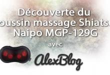 Decouverte Coussin Massage Shiatsu Naipo Mgp 129g
