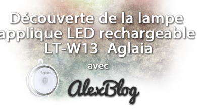 Photo of Découverte de la lampe applique LED rechargeable LT-W13 Aglaia