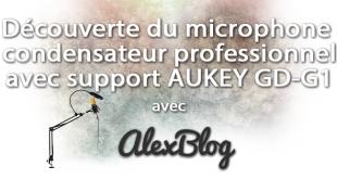 Découverte du microphone à condensateur professionnel avec support AUKEY GD-G1