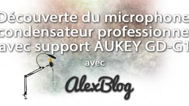 Photo of Découverte du microphone à condensateur professionnel avec support AUKEY GD-G1
