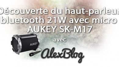 Photo of Découverte du haut-parleur bluetooth 21W avec micro AUKEY SK-M17
