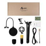 Decouverte Microphone Condensateur Professionnel Support Aukey (6)