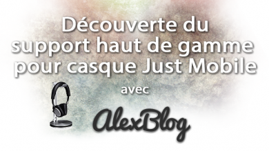 Decouverte Support Haut De Gamme Casque Just Mobile