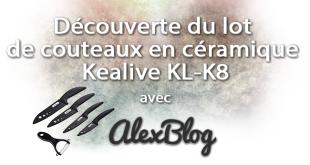 Découverte du lot de couteaux en céramique Kealive KL-K8