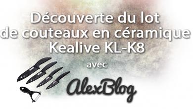 Photo of Découverte du lot de couteaux en céramique Kealive KL-K8