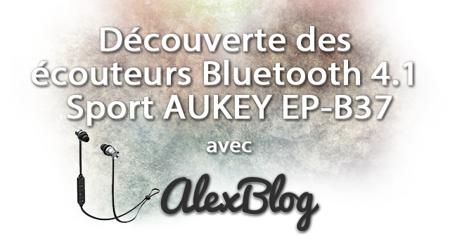 Aukey Ecouteurs Bluetooth 4 1 Sport Ep B37
