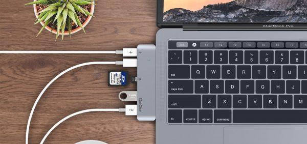 Hub Type C Qacqoc Gn28a Apple Macbook Pro (7)