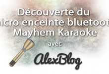Micro Enceinte Bluetooth Mayhem Karaoke Or