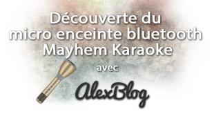 Micro Enceinte Bluetooth Mayhem Karaoke Or