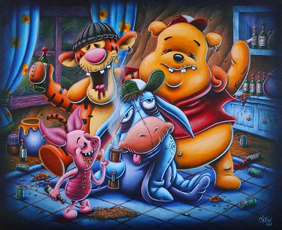 Gilen Bousquet Peinture Disneys Bastards (15)