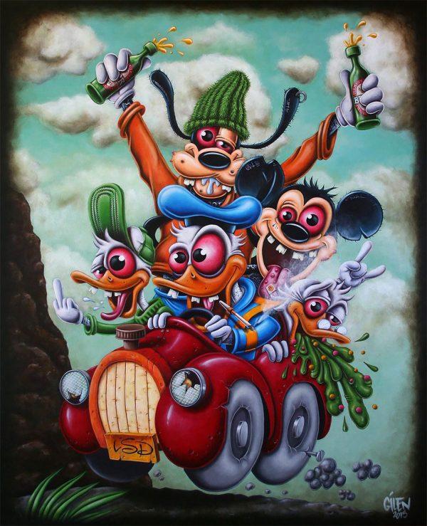 Gilen Bousquet Peinture Disneys Bastards (2)