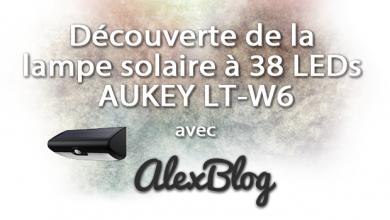 Photo of Découverte de la lampe solaire à 38 LEDs AUKEY LT-W6