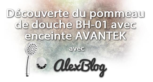 Pommeau De Douche Enceinte Bluetooth Avantek Bh 01