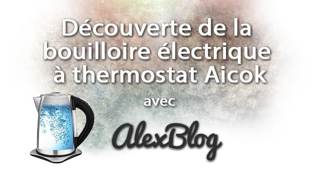 Decouverte Bouilloire Electrique Thermostat Aicok