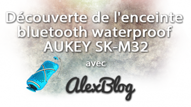 Decouverte Enceinte Bluetooth Waterproof Aukey Sk M32